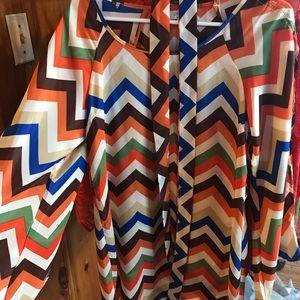 Umgee chevron long sleeve dress